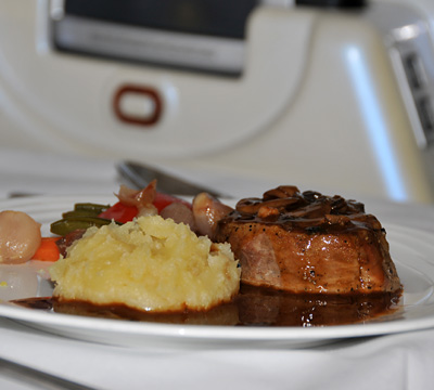 Emirates First Class Food Emirates First Class Beef