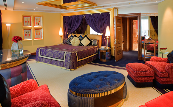Burj al arab seven stars global hospitality awards for Burj al arab suite