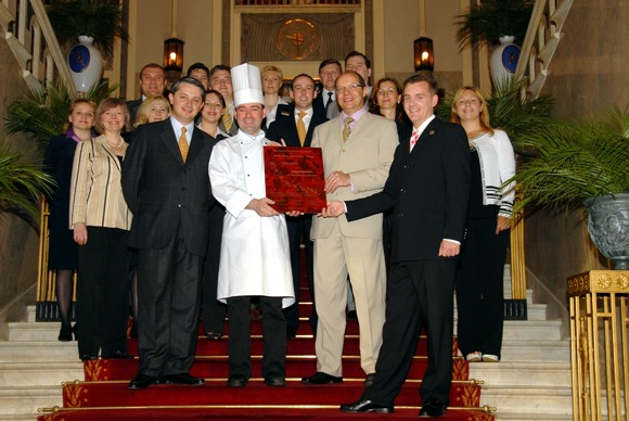 Grand Hotel Europe - Seven Stars and Stripes Award Hand Out