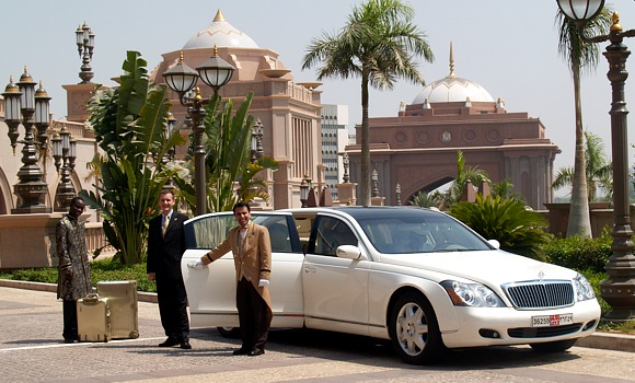 Arrival at the Emirates Palace