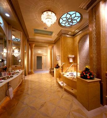 Emirates palace seven stars global hospitality awards for Bathroom 75 million