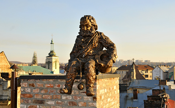 Lviv Staute City View