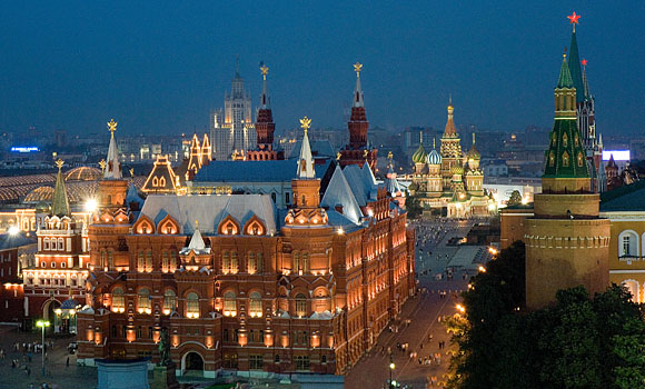 View from the 02 Lounge - The Ritz Carlton Moscow